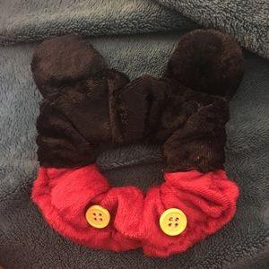 Mickey Mouse ear velvet scrunchie